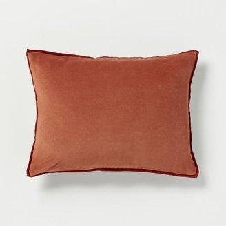 west elm Solid Velvet Pillow Cover – Acorn