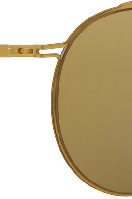 Maison Martin Margiela + MYKITA Gold Flash round-frame stainless steel mirrored sunglasses