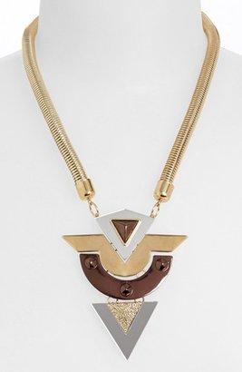 Topshop Geometric Pendant Necklace
