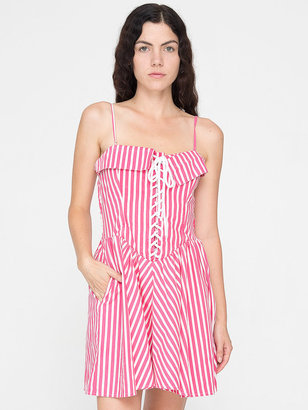 American Apparel Vintage Striped Lace-Up Dress