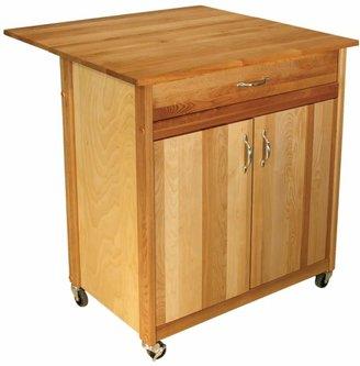 Catskill Craft Drop Leaf Kitchen Cart
