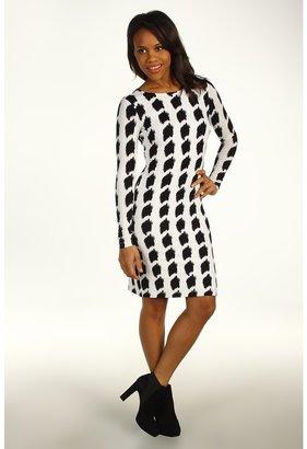 Karen Kane South Beach Long Sleeve Dress (Print) - Apparel