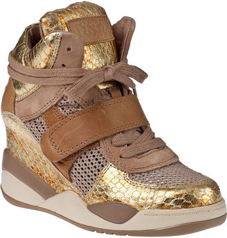 Ash Funky Wedge Sneaker Antique Gold Multi