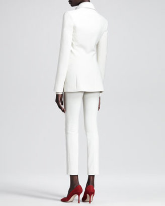 The Row Stretch-Scuba Cropped Skinny Pants