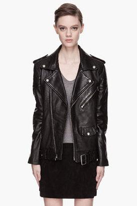 BLK DNM Black leather quilted Boyfriend Biker Jacket