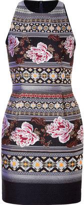 Matthew Williamson Wool-Cotton Blend Brocade Dress in Navy