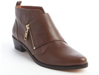 Rebecca Minkoff mahogany embossed leather zip detail 'Saachi' ankle boots
