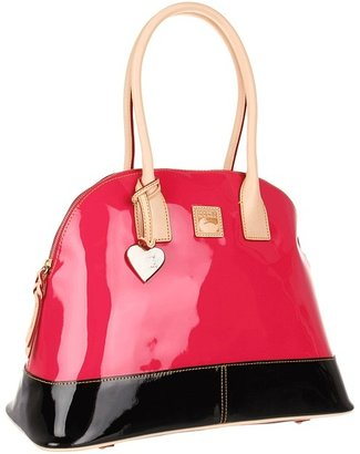 Dooney & Bourke Patent Domed Satchel (Hot Pink/Black) - Bags and Luggage