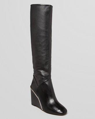 Diane von Furstenberg Wedge Tall Boots - Paula
