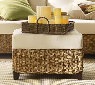 Pottery Barn Holbrook Seagrass Sectional Ottoman