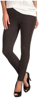 Free People Polka Dot Double Knit Legging (Black/White) - Apparel