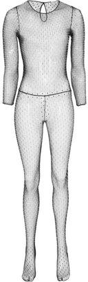 Saint Laurent Swarovski crystal-embellished stretch-mesh jumpsuit