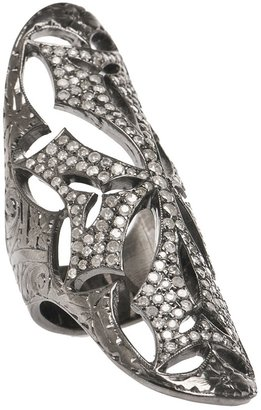 Loree Rodkin Cigar ring with diamonds