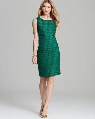 Jones New York Collection Sleeveless Houndstooth Dress