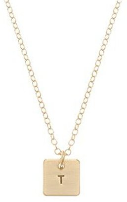 Anna Bee Mini Square Initial Necklace