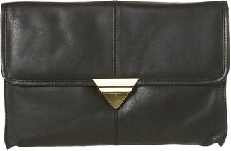 Topshop Triangle Lock Clutch Bag