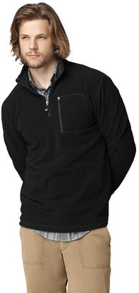G.H. Bass grid fleece 1/4-zip performance pullover jacket - men
