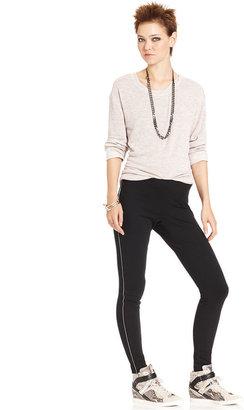 Bar III Pants, Skinny Ponte Faux-Leather
