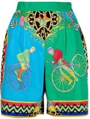 Versace Vintage cyclist print shorts