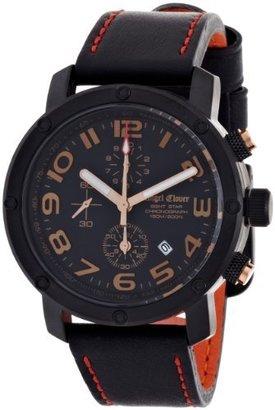 Angel Clover (エンジェル クローバー) - [エンジェルクローバー]Angel Clover 腕時計 エイトスター ブラック文字盤 ステンレス(BKPVD)ケース カーフ革ベルト 150M防水 クロノグラフ ES43BBK-BK メンズ