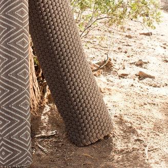 Rope Woven Indoor Outdoor Rug in Charcoal Grey