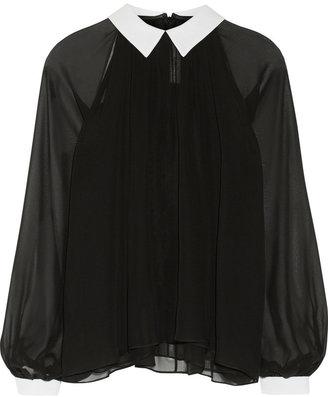Prabal Gurung Silk-chiffon blouse