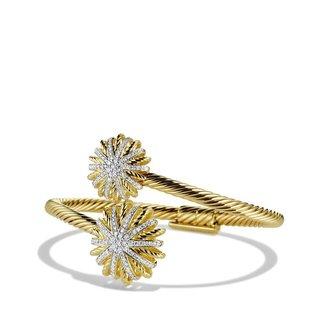 David Yurman Starburst Open Bracelet with Diamonds in Gold