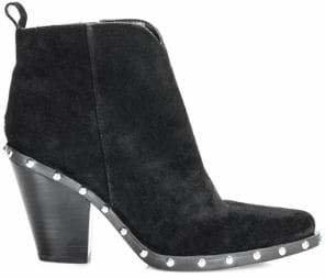 GUESS Kippy Cowboy Suede Booties