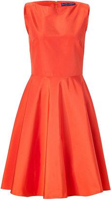Ralph Lauren Orange Cotton-Silk Dress