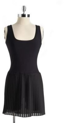 Nicole Miller Sleeveless Pleated Dress