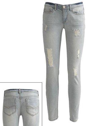 Mudd distressed skinny jeans - juniors