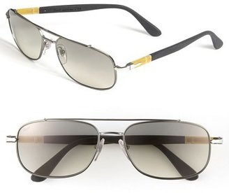 Persol 'Soft Touch' 59mm Aviator Sunglasses