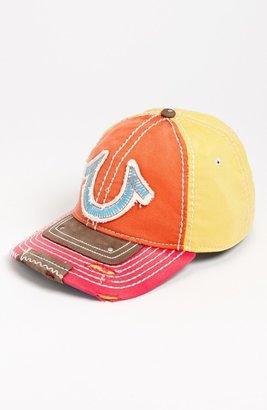 True Religion Brand Jeans 'Vintage Horseshoe' Baseball Cap Orange One Size