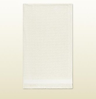 Gucci Ivory Cotton Bath Towel