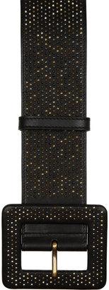Yves Saint Laurent Studded wide leather belt