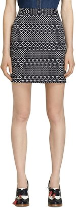 Brooks Brothers Eyelet Print Pencil Skirt