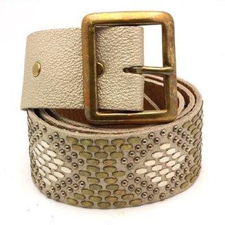 "Calleen Cordero Geyser"" Leather Studded Belt"