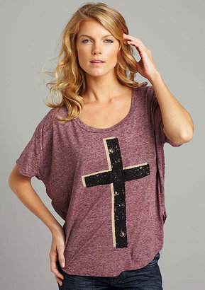 Alloy Project Social T. Beaded Cross Dolman