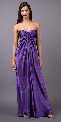 Laundry by Shelli Segal Purple Strapless Gowns