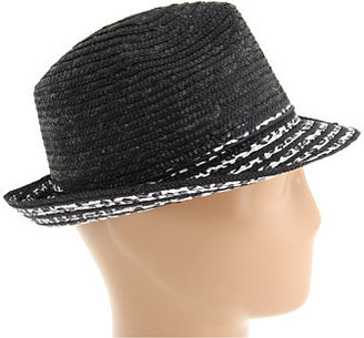 Laundry by Shelli Segal Wheat Fedora with Leopard Print Fabric Detail