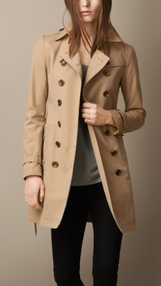 Burberry Mid-Length Cotton Poplin Trench Coat