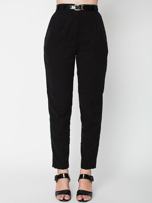 American Apparel Micro-Poly High-Waist Pleated Pant