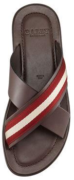 Bally Briley Web Cross Sandal, Chocolate