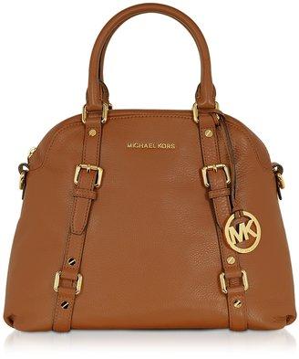 Michael Kors Bedford Genuine Leather Bowling Satchel Bag