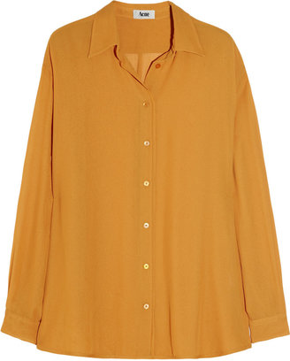 Acne Shining crepe shirt