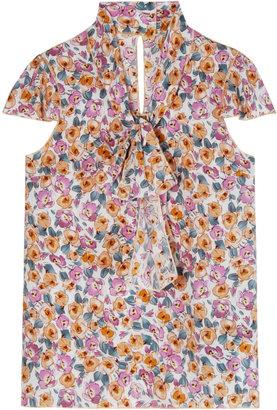 Dolce & Gabbana Summer Flowers Silk Top
