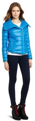 BCBGeneration Women's Packable Envelope Collar Puffer Jacket