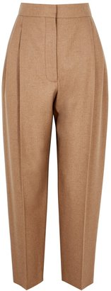 Alexander McQueen Sand Tapered Twill Trousers