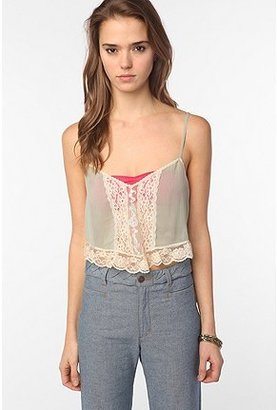 Urban Outfitters Pins and Needles Cropped Prairie Cami