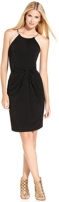 MICHAEL Michael Kors Dress, Sleeveless Hardware Halter
